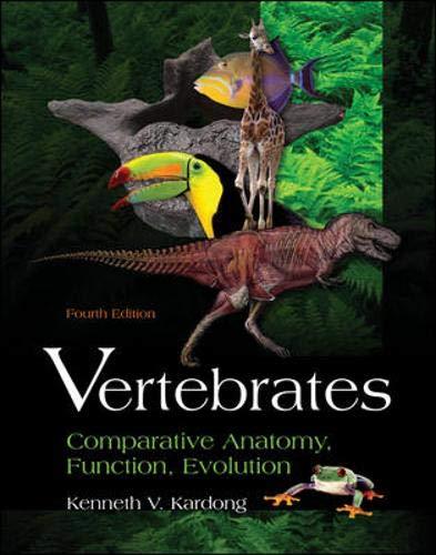 9780072528305: Vertebrates: Comparative Anatomy, Function, Evolution