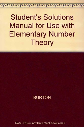 9780072528619: Student's Solutions Manual for Use with Elementary Number Theory