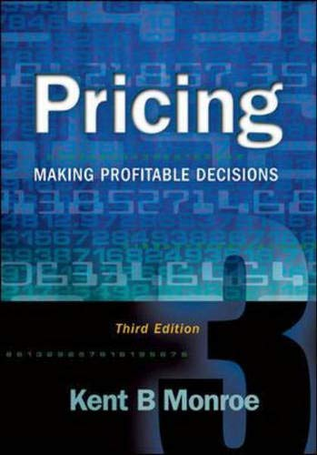 9780072528817: Pricing: Making Profitable Decisions