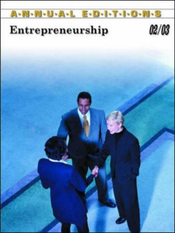 9780072529111: Annual Editions: Entrepreneurship 02/03 (Annual Editions: Entrepreneuship)