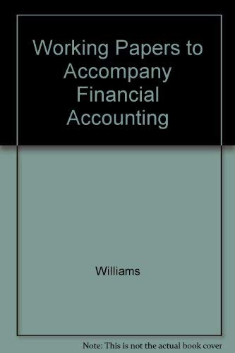 9780072529180: Working Papers for use with Financial Accounting