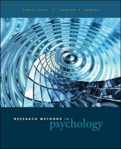 9780072530742: Research Methods in Psychology: Ideas, Techniques, and Reports