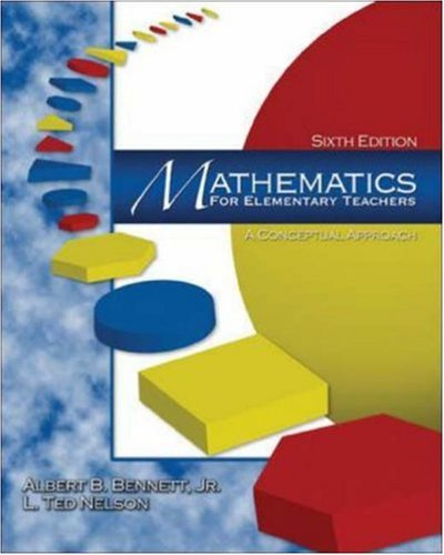 9780072532944: Mathematics for Elementary Teachers: A Conceptual Approach (6th Edition)