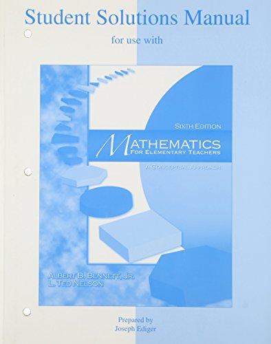 9780072532975: SSM t/a Mathematics for Elementary Teachers
