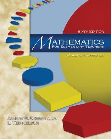 9780072533071: Mathematics for Elementary Teachers: An Activity Approach (6th Edition)