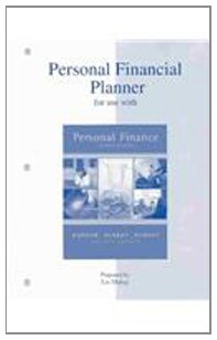 Personal Financial Planner to accompany Personal Finance: Jack R. Kapoor,