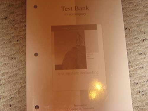 9780072534832: Test Bank Volume 2 to Accompany Intermediate Accounting