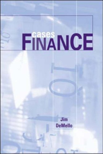 9780072536324: Cases in Finance (Mcgraw-Hill/Irwin Series in Finance, Insurance, and Real Estate)