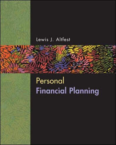 9780072536409: Personal Financial Planning