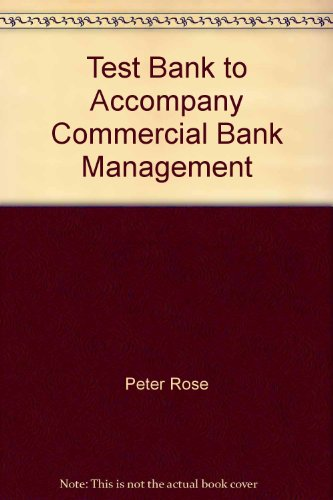 9780072536485: Test Bank to Accompany Commercial Bank Management