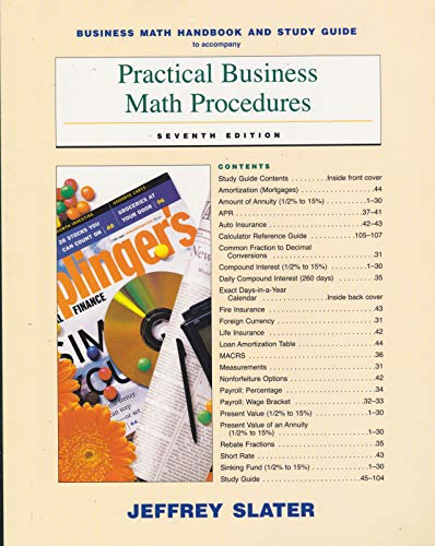 9780072537444: Practical Business Math Procedures
