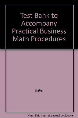 9780072537451: Test Bank to Accompany Practical Business Math Procedures