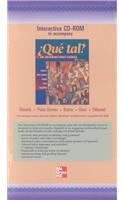 9780072538342: Student CD-ROM Program to accompany ¿Que tal?