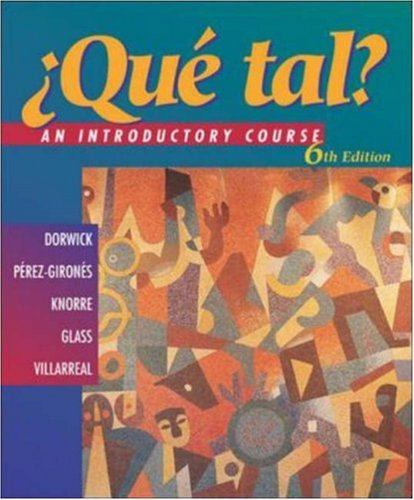 9780072538465: ¿Que tal? An Introductory Course with Listening Comprehension Audio CD and Video on CD (Student Edition)
