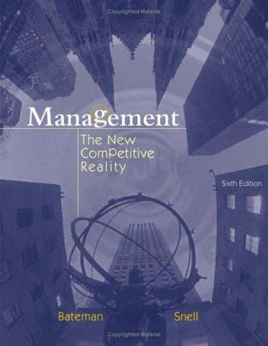 9780072538656: Management: The New Competetive Landscape