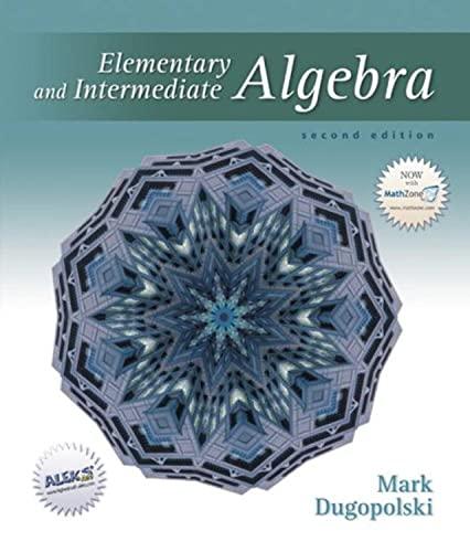 9780072538953: Elementary and Intermediate Algebra
