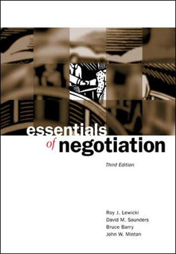 9780072545821: Essentials of Negotiation