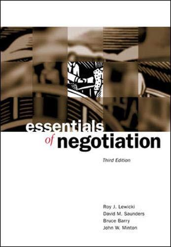 9780072545821: Essentials of Negotiation