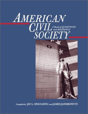 9780072545982: American Civil Society: A Book of Questions and Readings