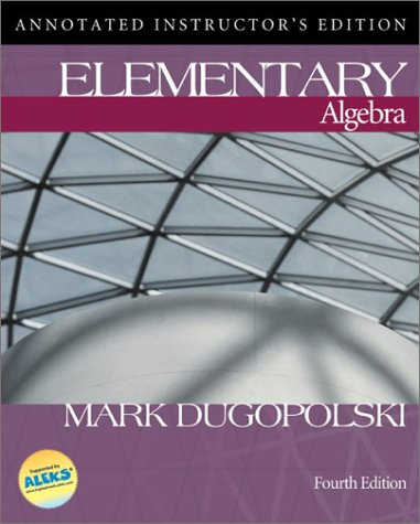 9780072546286: Elementary Algebra Annotated Instructor's Edition Fourth Edition