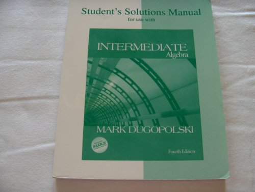 9780072546453: Student's Solutions Manual for use with Intermediate Algebra