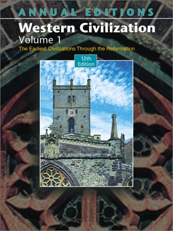 9780072548259: Annual Editions: Western Civilization, Volume 1