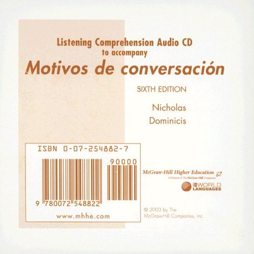 9780072548822: Listening Comprehension Audio CD to accompany Motivos de conversacion