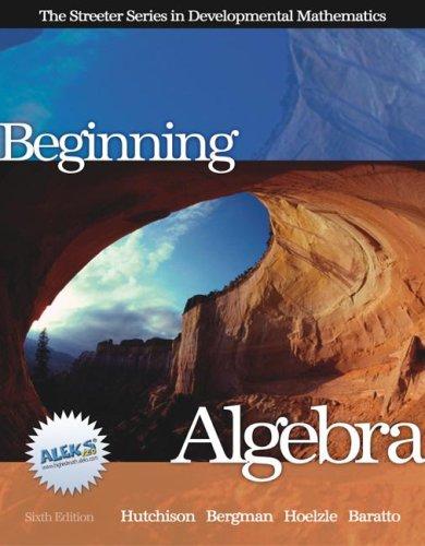 9780072549010: Beginning Algebra (Streeter)