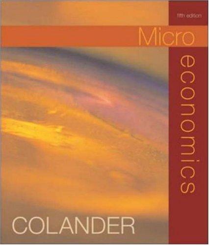 9780072549362: Microeconomics
