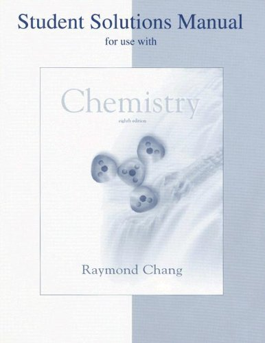 9780072549928: Student Solution Manual to Accompany Chemistry