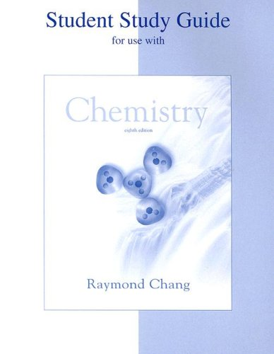 9780072549935: Student Study Guide to Accompany Chemistry