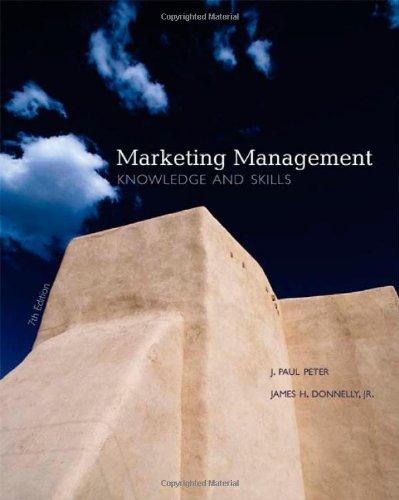 9780072552171: Marketing Management: Knowledge and Skills