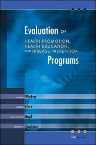 9780072552546: Evaluation of Health Promotion, Health Education, and Disease Prevention Programs with PowerWeb Bind-in Passcard