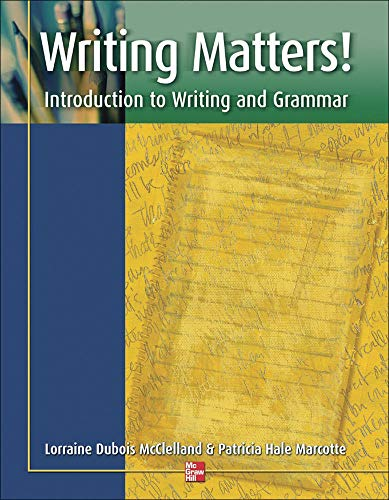 9780072552799: Writing Matters! - Student Book: Introduction to Writing and Grammar: Students Book (ESL Domestic)