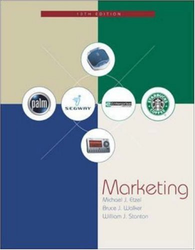 Marketing W/Student CD-ROM and PowerWeb: Michael J Etzel,