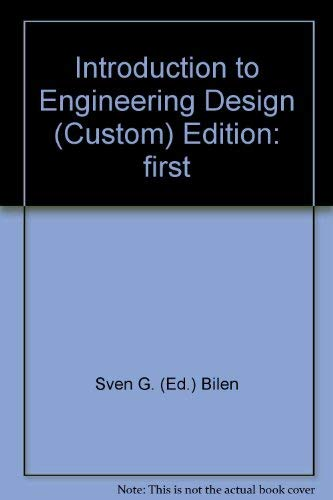 9780072555769: Introduction to Engineering Design