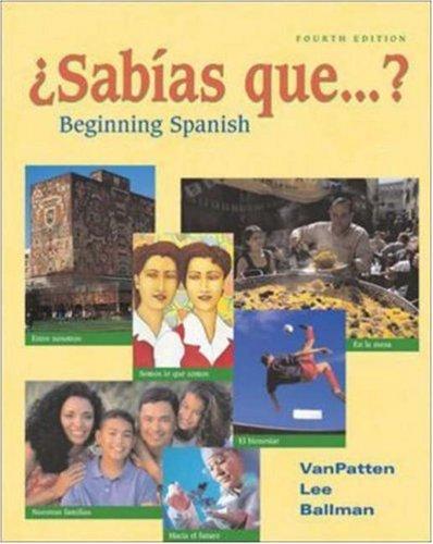 9780072555868: ¿Sabías que...? (Student Edition): Beginning Spanish