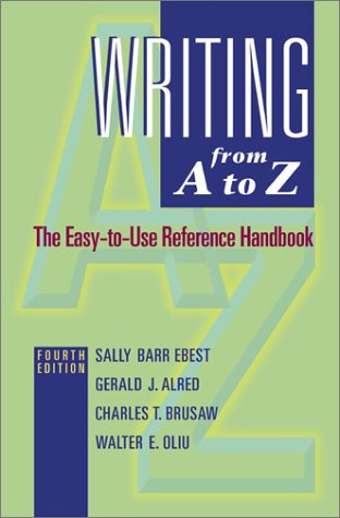 9780072555998: Writing from A to Z