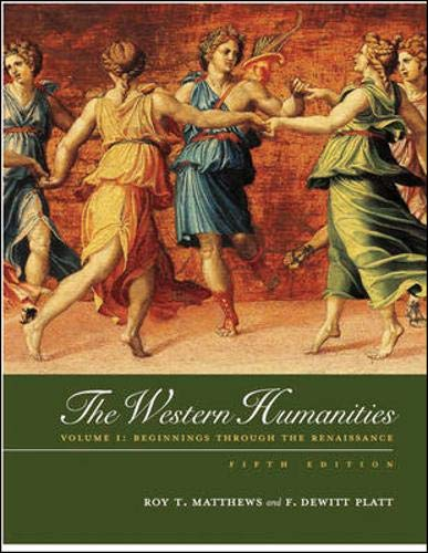 9780072556308: Western Humanities, Volume 1