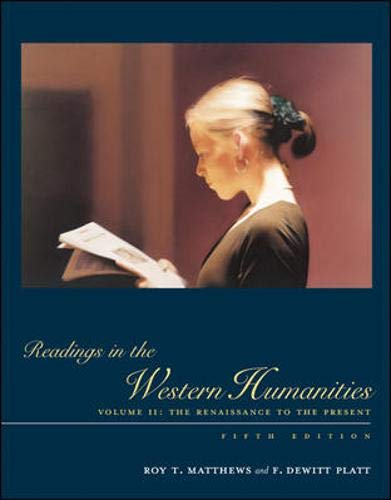 9780072556407: Readings in the Western Humanities, Volume 2