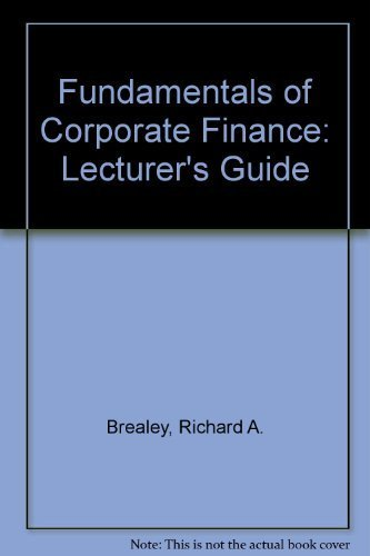 9780072557541: Fundamentals of Corporate Finance: Lecturer's Guide