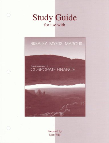 9780072557565: Study Guide to accompany Fundamentals of Corporate Finance