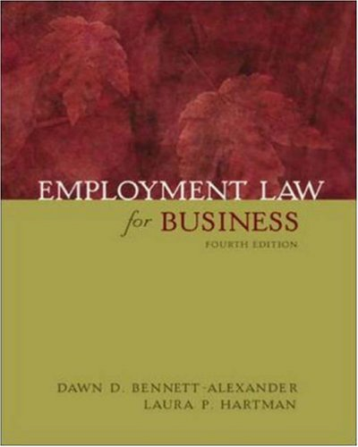 9780072558210: Employment Law for Business