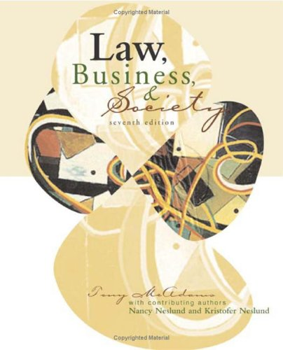 9780072558265: Learning Aid: Law Business and Society