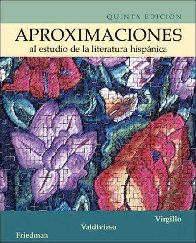 9780072558463: Aproximaciones al estudio de la literatura hispanica