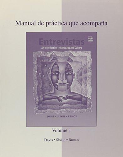 9780072558623: Manual de practica que acompana Entrevistas: Primera Parte