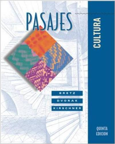 9780072559187: Pasajes: Cultura with Listening Comprehension Audio CD
