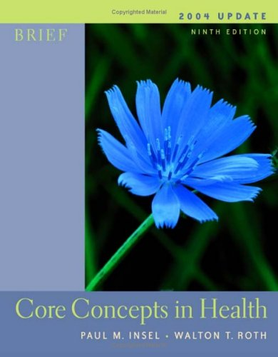 9780072559316: Core Concepts in Health: With Powerweb