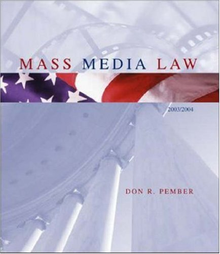 9780072559651: Mass Media Law, 2003 Edition, with Free Student CD-ROM
