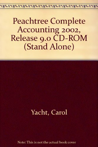 9780072560596: Peachtree Complete Accounting 2002, Release 9.0 CD-ROM (Stand Alone)